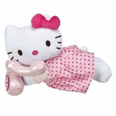 Hello Kitty Cuddle Bed Pillow in Pink Dress Talking on Phone by Hello Kitty. $29.20