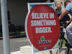 I definitely believe in something bigger...but the California Lottery isn't it.