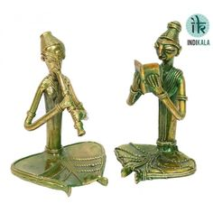Name : Pair of Metal Dhokra work figures Price : Rs 1,649 Buy Now at : http://www.indikala.com/decor/pair-of-metal-dhokra-work-figures.html #Antiques #Idols #Figurines #Decor