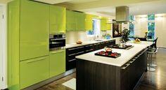 Bright Green Kitchen