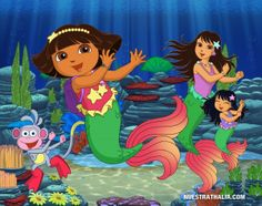 1000 images about wall mural on pinterest dora the for Dora the explorer wall mural