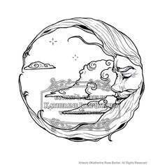 Moon and Stars Coloring Pages | Moon Coloring Page
