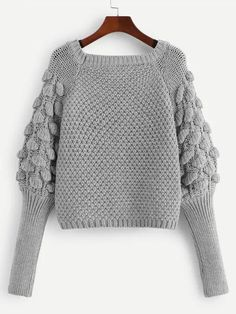Product name: Leg-of-mutton Sleeve Solid Sweater at SHEIN, Category: Sweaters To find out about the Leg-of-mutton Sleeve Solid Sweater at SHEIN, part of our latest Sweaters ready to shop online today! SHEIN offers Sleeve Solid Sweater & more to fit your f Fingerless Gloves Crochet Pattern, Sweater Knitting Patterns, Crochet Poncho, Knitted Gloves, Crochet Patterns, Poncho Outfit, Pullover Outfit, Sweater Outfits, Leg Of Mutton Sleeve