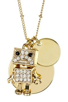 Robot Cluster Charm Necklace