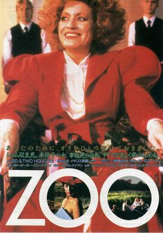 Peter Greenaway - ZOO   A Zed & Two Noughts (1985) Hollywood Walk Of Fame, Movies, Films, Japan, Actors, Composition, Movie Posters, Collection, Posters