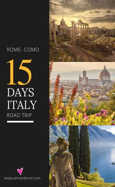 ITALY ROAD TRIP: Top Places to Include In Your Itinerary! Discover the beauty of Italy in a smashing 2 week road trip Itinerary starting from Rome and ending to the beautiful Lake Como near Milan Europe Destinations, Backpacking Europe, Italy Travel Tips, Travel Europe, Paris Travel, Como Italy, Italy Tours, Road Trip Hacks, Road Trips