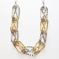 Silver + Gold Link Necklace | Shop All Summer Jewelry Arrivals On chelbella.com