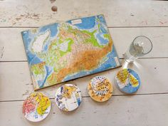 Vintage Japanese Maps + Coasters = Awesomeness — Coastermatic
