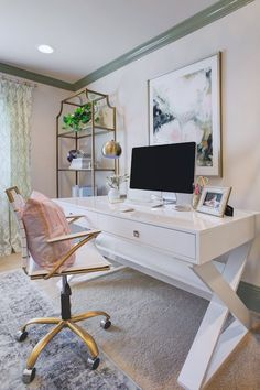 White desk for home office Decor My Home Office Pinterest 360 Best Office Images Desk Home Office Office Home