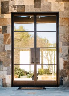 Appreciate the modern design of our contemporary doors. Transform your entryway with custom contemporary doors by Clark Hall. Exterior Patio Doors, House Exterior, Contemporary Front Doors, Dome Home, House Entrance, Wrought Iron Doors, Contemporary Doors, Entry Hallway, Entry Doors With Glass