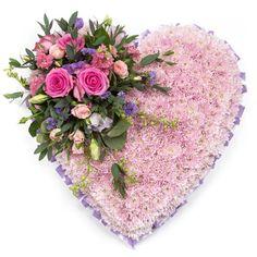 Pink Massed Heart - Funeral Flowers Northwich - is-sit tiegħi Funeral Floral Arrangements, Modern Flower Arrangements, Church Flowers, Funeral Flowers, Lace Flowers, Arreglos Ikebana, Memorial Flowers, Cemetery Flowers, Sympathy Flowers