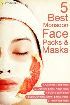Monsoons bring with them a new set of skin problems. Your skin may be suddenly oily and shiny, or it may start looking dull and dry. If you too have experienced these problems, or would like to prevent them from happening, here are a few 'special' face masks that will help to keep your skin problem free and fresh:  #facemasks