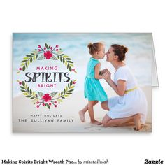 Making Spirits Bright Wreath Photo Folded Card