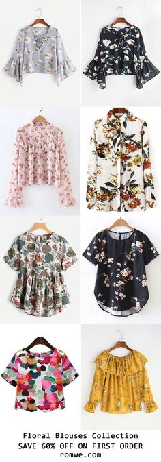 Summer Vacation - Floral Blouses Collection 2017 from romwe.com