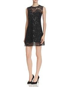 MILLY Sequined Tulle Shift Dress - Bloomingdale's_0