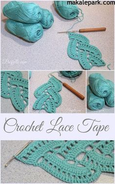 Purfylle: Crochet Lace Tape ༺✿ƬⱤღ✿༻ by carleneC: Lace Tape by Purfylle could be used for scarf or decorative edging MehrMy very first attempt at Crochet Lace Tape.Learn how to crochet pretty lace edges for scarves or anything. Crochet Borders, Crochet Motif, Crochet Designs, Crochet Yarn, Crochet Stitches, Love Crochet, Crochet Lace Scarf, Crochet Squares, Cross Stitches