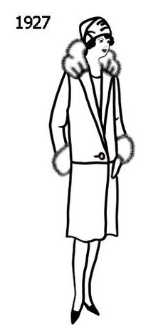 Coat style 1920s - Tallulah in Bugsy Malone needs a fur collar & cloche hat