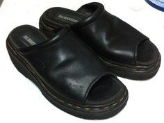 Dr. Martens Retro Leather Platform Slide by redcurlzsvintage
