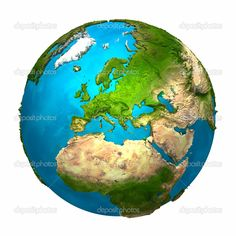 Illustration about Planet Earth - Europe - colorful globe with detailed and realistic surface, render. Illustration of space, sphere, africa - 17658209 Earth Drawings, Continental Shelf, Islamic Wall Decor, Earth Color, Islamic Gifts, Earth From Space, Islamic Calligraphy, Colorful Drawings, Planet Earth