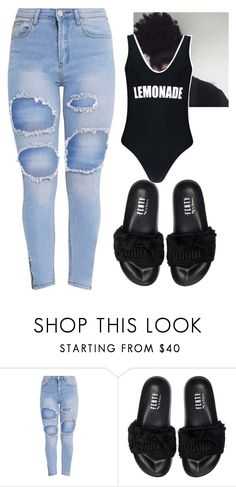Untitled #198 by bigdaddycam43 ❤ liked on Polyvore featuring Puma and Boohoo