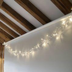 Clear Crystal LED Light Garland
