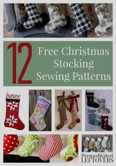 Sewing For Beginners Learning Free Sewing Patterns for Stockings - Christmas Sewing Patterns, Sewing Patterns Free, Free Pattern, Christmas Stocking Pattern, Bag Patterns, Sewing Hacks, Sewing Crafts, Sewing Tips, Sewing Ideas