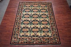 William Morris 9X12 Art & Craft Hand-Knotted Oriental Area Rug Wool $3K
