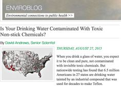 Health Alert - Drinking Water Contamination in the US Infographic - Interactive Map showing toxic chemical PFOA industrial compound ed to make #teflon #scotchgard in 94 Public Water Systems. #environment #publichealth #health #toxicchemicals #watertesting #EnvironmentalWorkingGroup #EWG  #nonstick #toxic #PFC http://www.ewg.org/enviroblog/2015/08/your-drinking-water-contaminated-toxic-non-stick-chemicals #healthyliving  #healthinfographics and article