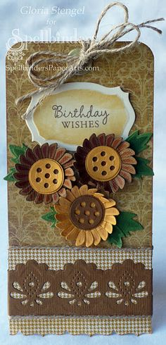 http://tiny.cc/SB-PreOrder ~~ Another lovely card from our good friend Gloria, a designer for Spellbinders, showcasing the new Aster Flower Topper die set and Classic Decorative Inserts Borderabilities. Check it out at http://www.gloriascraps.blogspot.com/