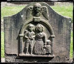 Dundee's Howff Cemetry in Scotland with Memorial Poems etched in Stone Headstones.
