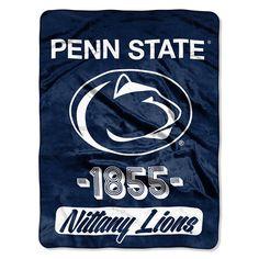 Penn State Nittany Lions NCAA Micro Raschel Blanket Varsity Series 48x