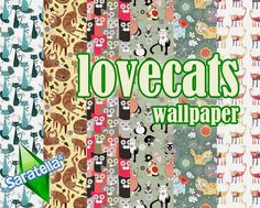 My Sims 4 Blog: Love Cats Wallpaper by Saratella