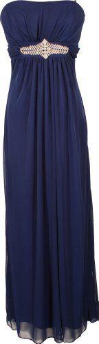 Goddess Empire Strapless Chiffon Gown w/Rhinestone Accent Junior Plus Size PacificPlex. $99.99