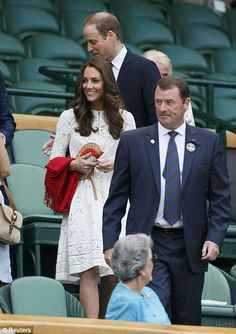 The Cambridges left baby George, who will turn one later this month, elsewhere while they went to the tennis