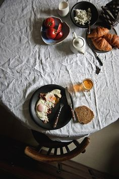 Breakfast | Dark, moody food photography