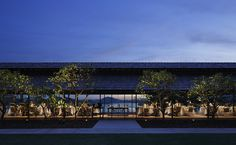 HiroshiNakamura&NAP Between The Oceans, Hip Roof, Roof Structure, Side Window, Outdoor Dining, Hotels And Resorts, The Good Place, Gazebo, Architecture Design