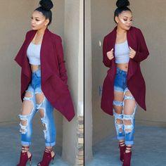Dope Outfits, Trendy Outfits, Fashion Outfits, Womens Fashion, Fashion Trends, Cute Fashion, Fashion Looks, Gq Fashion, Fashion Black