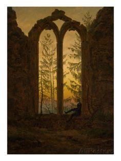 The Dreamer Giclee Print by Caspar David Friedrich at AllPosters.com