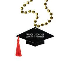 Graduation Cap Medallion Beads - Graduation Cap Medallion Beads.