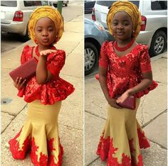 Latest Ankara Skirt & Blouse For African/Nigeria Wedding by diyanu fashion magazine Baby African Clothes, African Dresses For Kids, Latest African Fashion Dresses, African Dresses For Women, Dresses Kids Girl, African Kids, Kids Outfits, Nigerian Girls, Ankara Skirt And Blouse