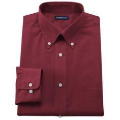 Croft & Barrow Classic-Fit Solid Broadcloth Button-Down Dress Shirt - Men