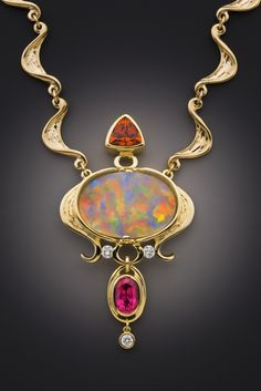 Welcome to Glenn Dizon Jewelry Design. This custom gold jewelry is designed with fine colored gemstones and fine crystal opal for collectors of fine jewelry. Opal Necklace, Jewelry Art, Gemstone Jewelry, Jewelry Gifts, Fine Jewelry, Fashion Jewelry, Jewelry Design, Jewelry Armoire, Silver Jewellery