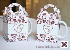 Embalagem personalizada para caneca!  www.cartesdesign.com cartesconvites@gmail.com Instagram: cartesdesign