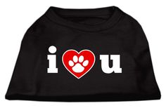 Mirage Pet Products 16-Inch I Love U Screen Print Shirt for Pets, X-Large, Black *** Find out more about the great product at the image link. (This is an affiliate link and I receive a commission for the sales) #PetCats