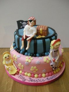 Pirates and Princesses Princesses, Cake Decorating, Birthday Cake, Party Ideas, Google, Desserts, How To Make, Crafts, Pirates