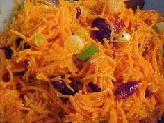 Salade de carottes râpées aux canneberges séchées Japchae, Vegetable Recipes, Salads, Spaghetti, Favorite Recipes, Lunch, Vegetables, Ethnic Recipes, Desserts