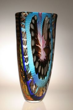 Custom Made Murano Art Glass Vases By Gianluca Vidal Glass Ceramic, Mosaic Glass, Fused Glass, Glass Art, Art Nouveau, Art Deco, Cristal Art, Venetian Glass, Glass Design