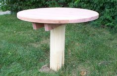 Natural log children's table with stump seats
