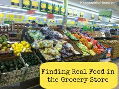 Whole food shopping guide