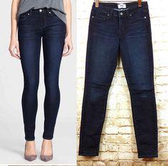 5e9dd20c067 Paige Jeans Verdugo Ultra Skinny Stevie Dark Blue Wash Womens Size 26 $179  EUC #Paige